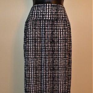 Apt. 9 NWT Black & White Stretchy Maxi Skirt